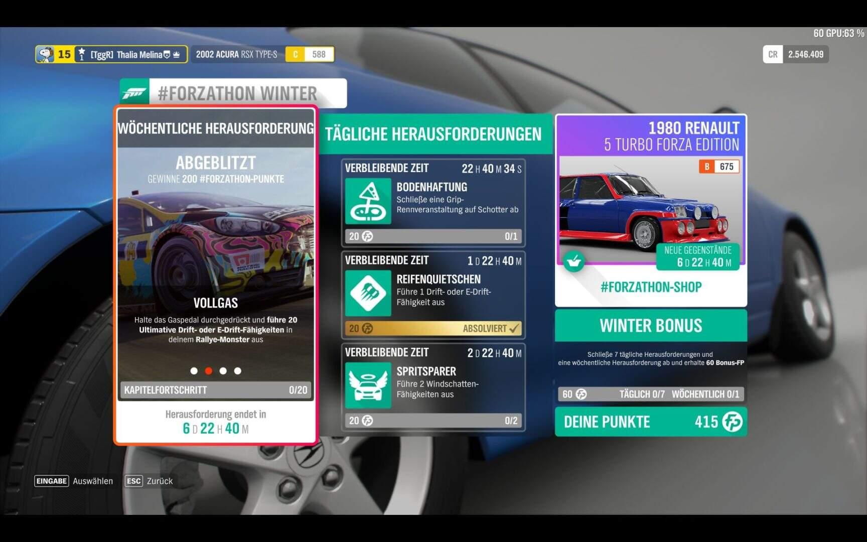 Forza Horizon 4 #Forzathon KW 49 Aufgabe 2