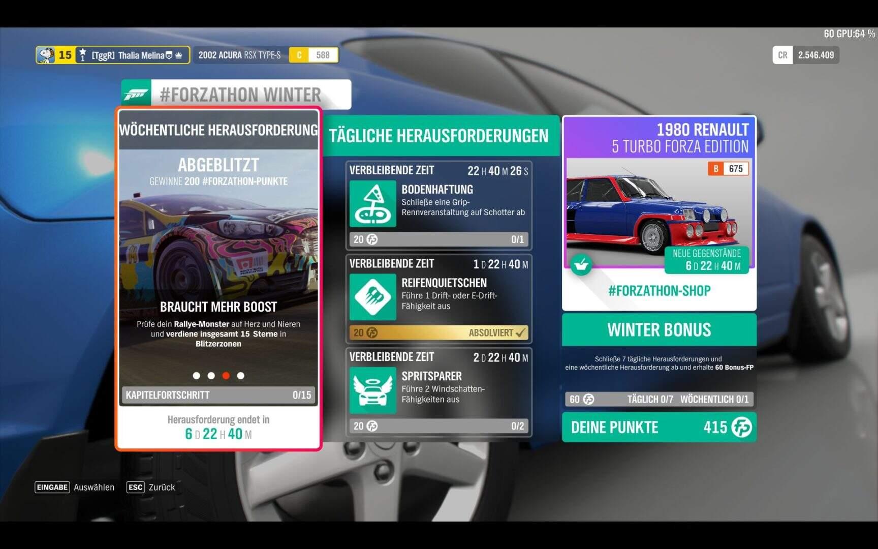Forza Horizon 4 #Forzathon KW 49 Aufgabe 3