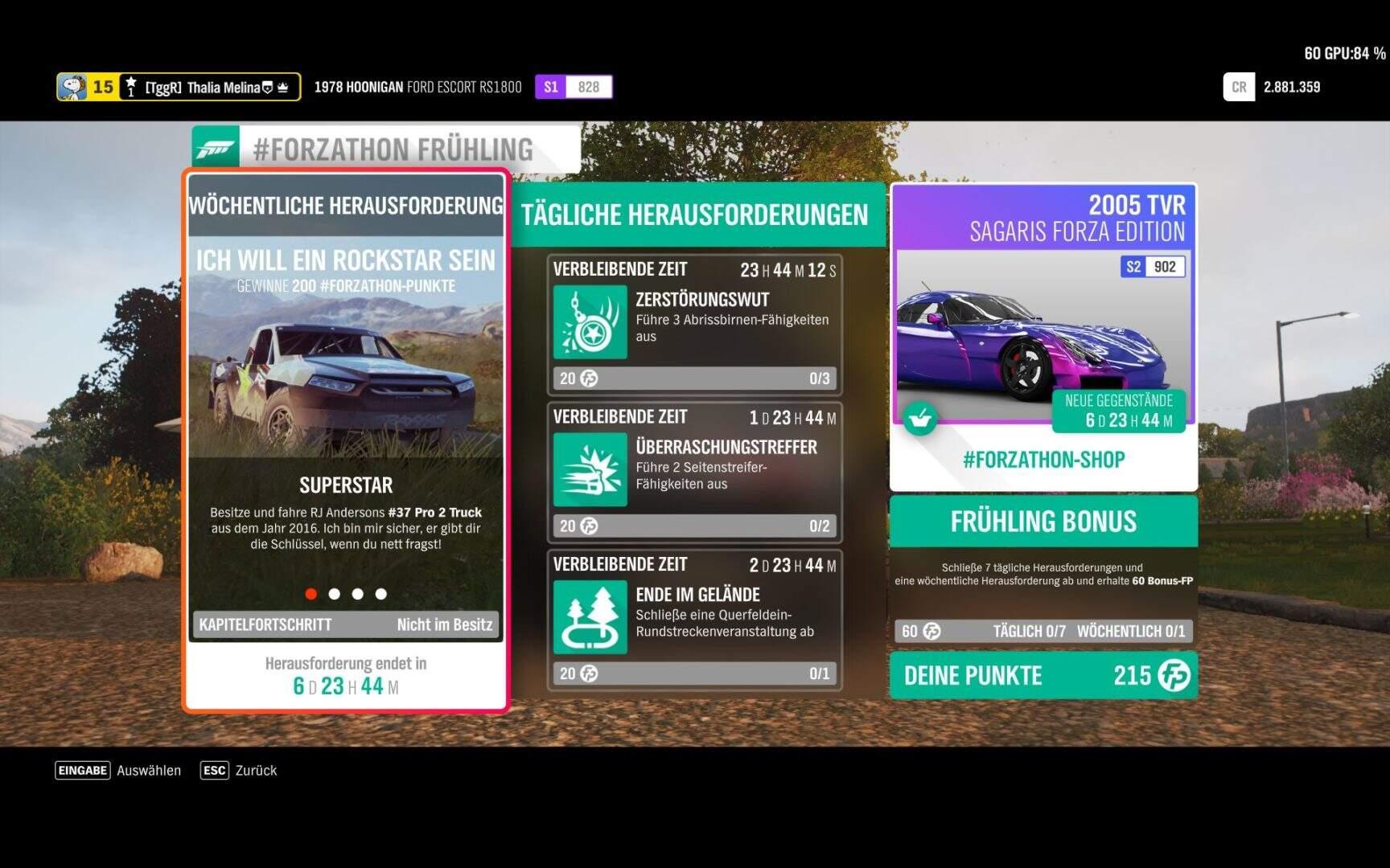 Forza Horizon 4 #Forzathon KW 50 – Ich will ein Rockstar sein Aufgabe 1