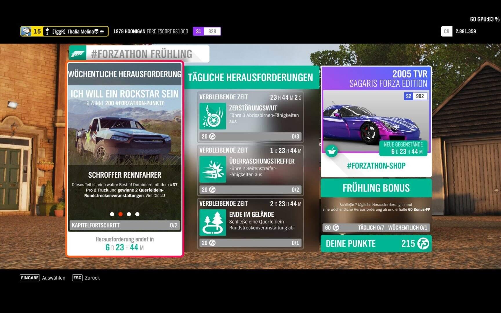 Forza Horizon 4 #Forzathon KW 50 – Ich will ein Rockstar sein Aufgabe 2