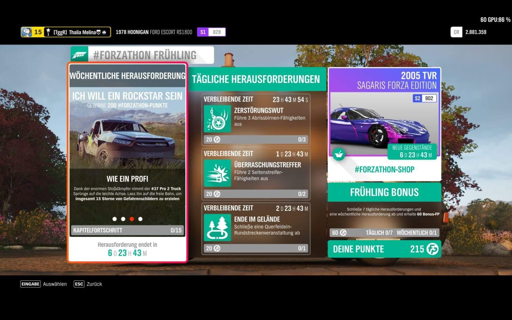 Forza Horizon 4 #Forzathon KW 50 – Ich will ein Rockstar sein Aufgabe 3
