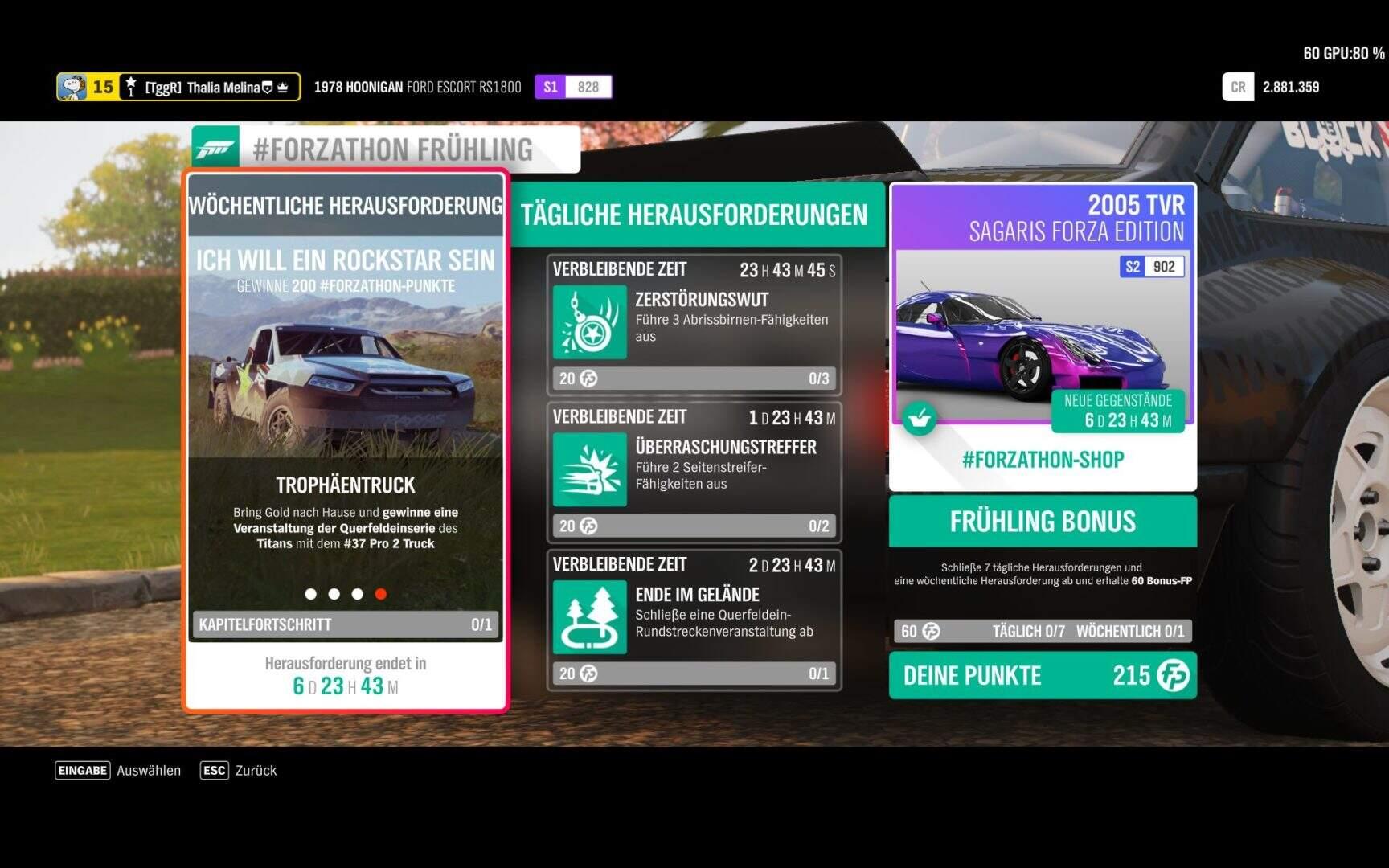 Forza Horizon 4 #Forzathon KW 50 – Ich will ein Rockstar sein Aufgabe 4