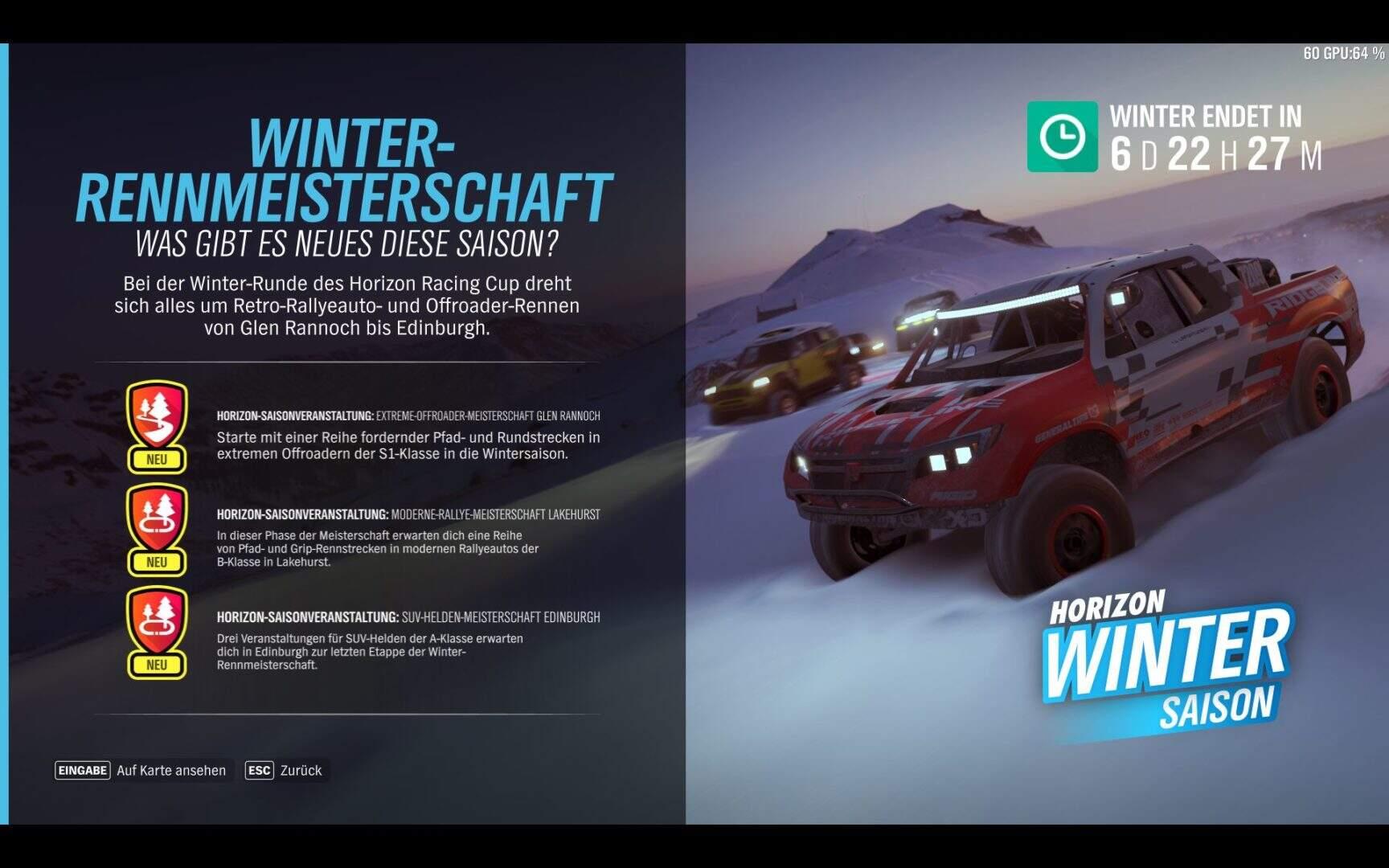 Forza Horizon 4 Winter KW 49 2018