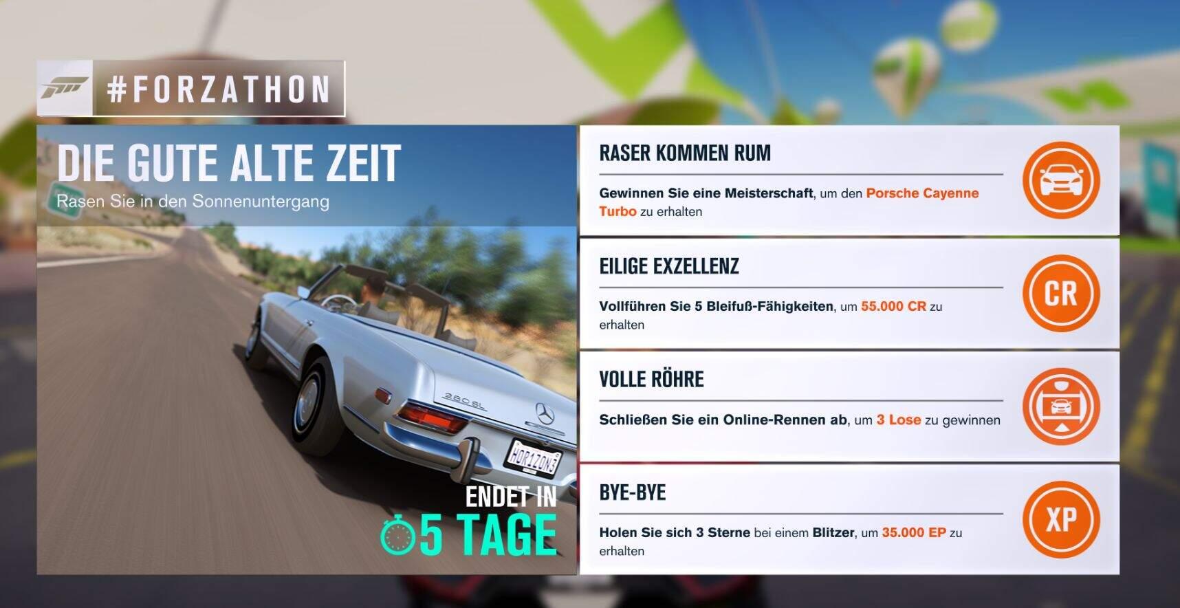 Forza Horizon 3 #Forzathon Guide KW 04 – Die gute alte Zeit