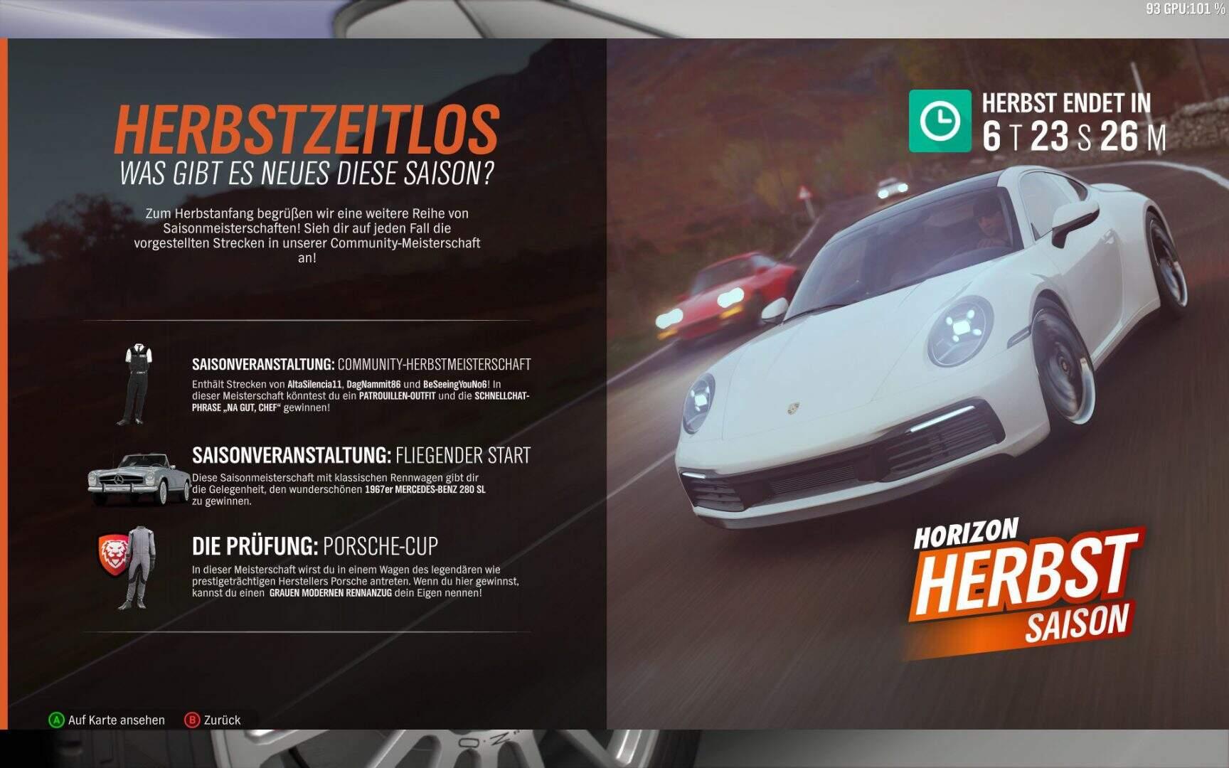 Forza Horizon 4 Herbst KW 04 / 2019 Aktivitäten