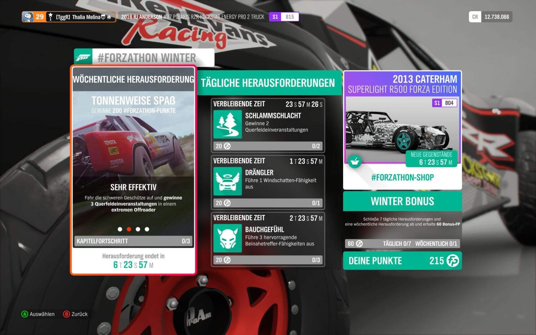 Forza Horizon 4 Forzathon KW 01 2019 Aufgabe 2