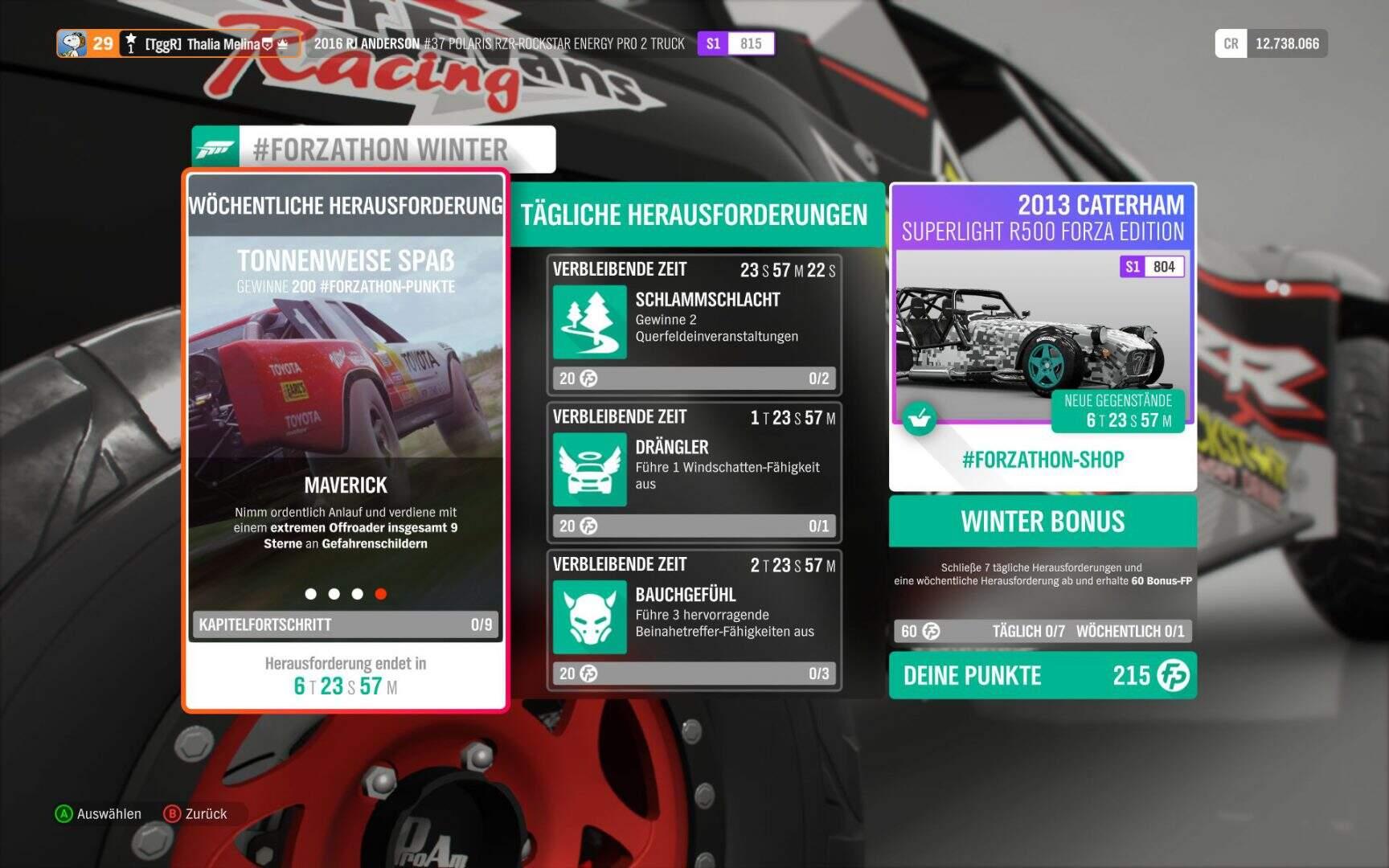 Forza Horizon 4 Forzathon KW 01 2019 Aufgabe 4