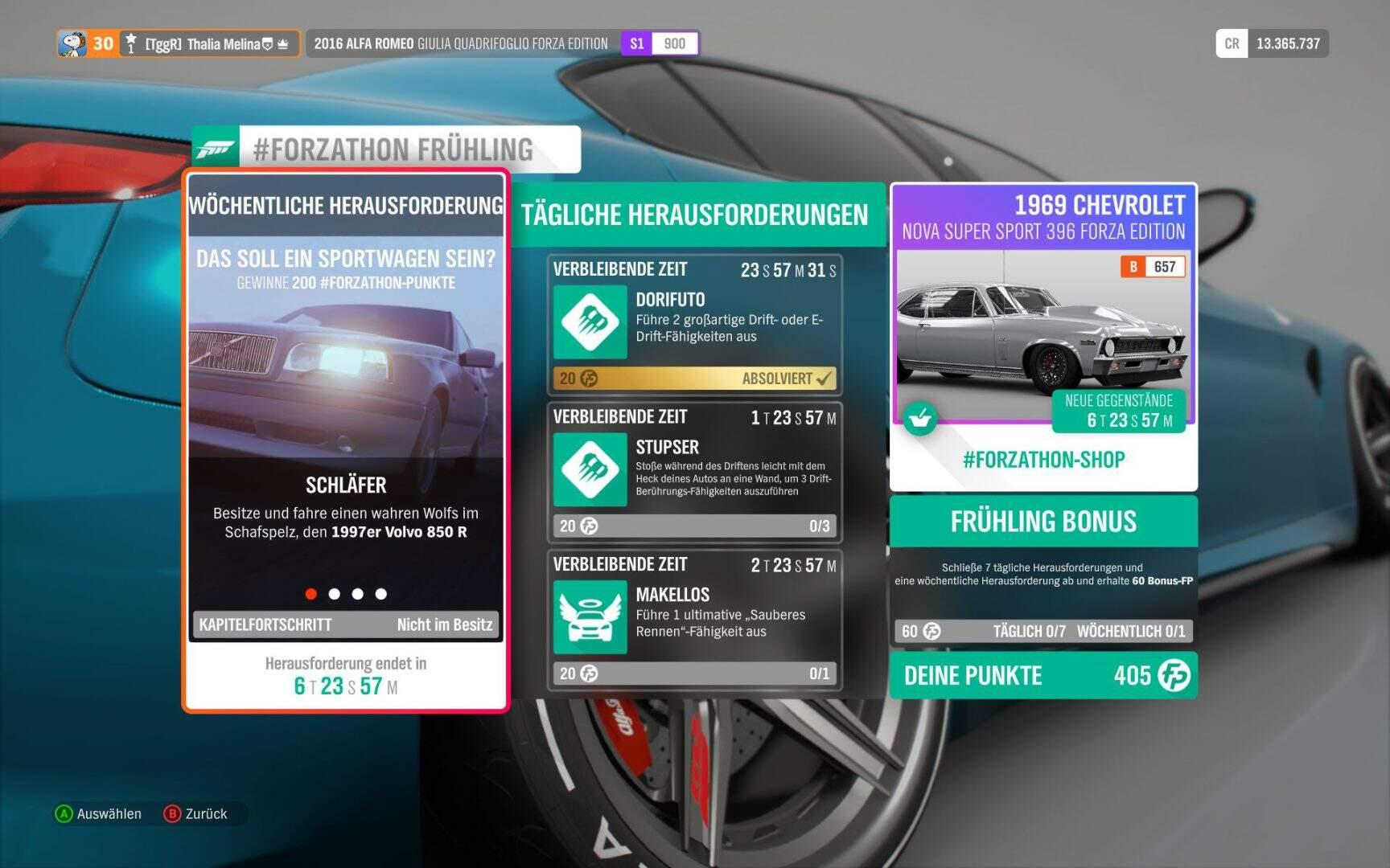 Forza Horizon 4 Forzathon KW 02 / 2019 Aufgabe 1
