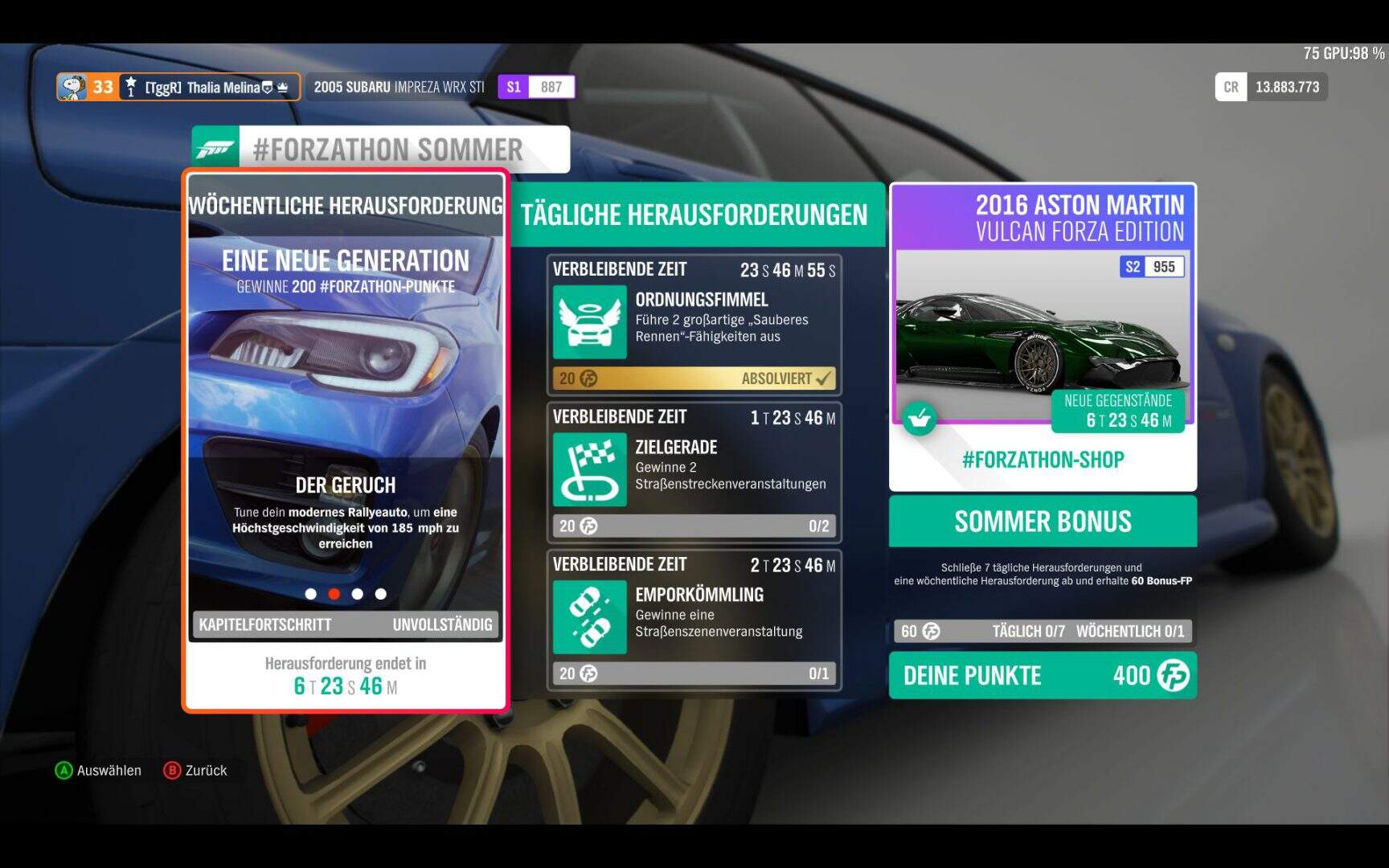 Forza Horizon 4 Forzathon KW 03 / 2019 Aufgabe 2