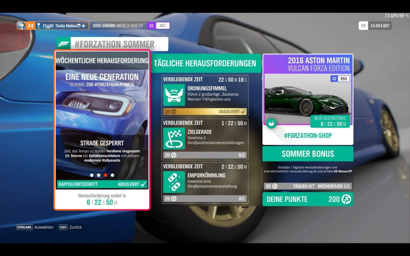 Forza Horizon 4 Forzathon KW 03 / 2019 Aufgabe 3