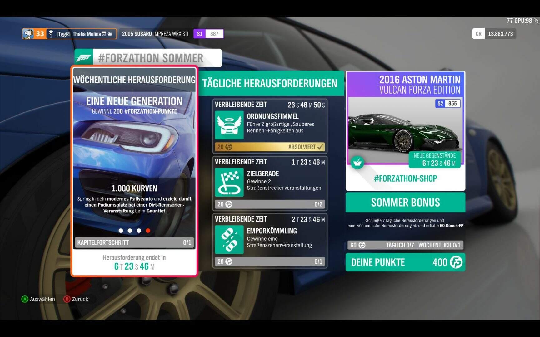 Forza Horizon 4 Forzathon KW 03 / 2019 Aufgabe 4