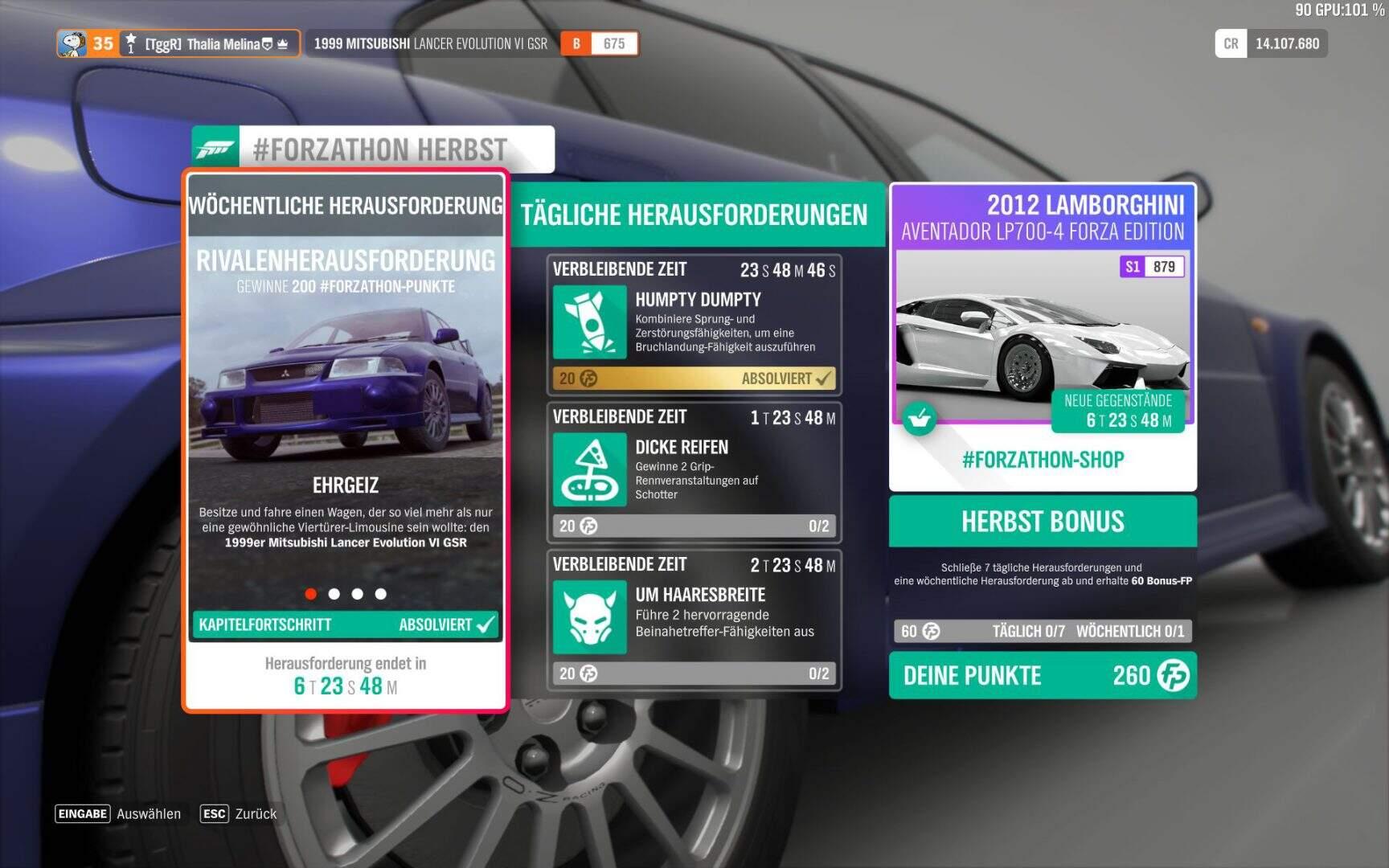 Forza Horizon 4 Forzathon KW 04 / 2019 Aufgabe 01