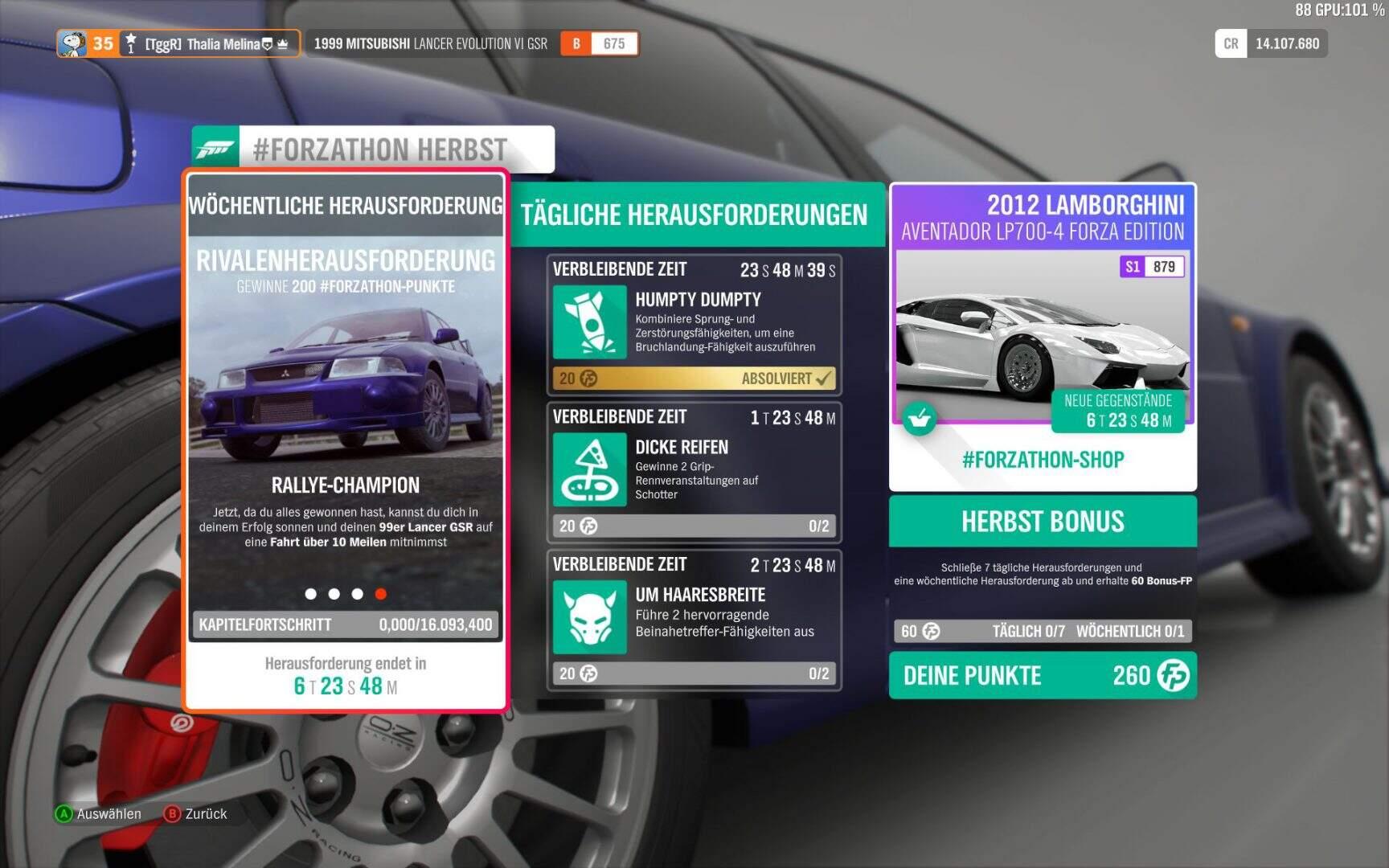 Forza Horizon 4 Forzathon KW 04 / 2019 Aufgabe 04