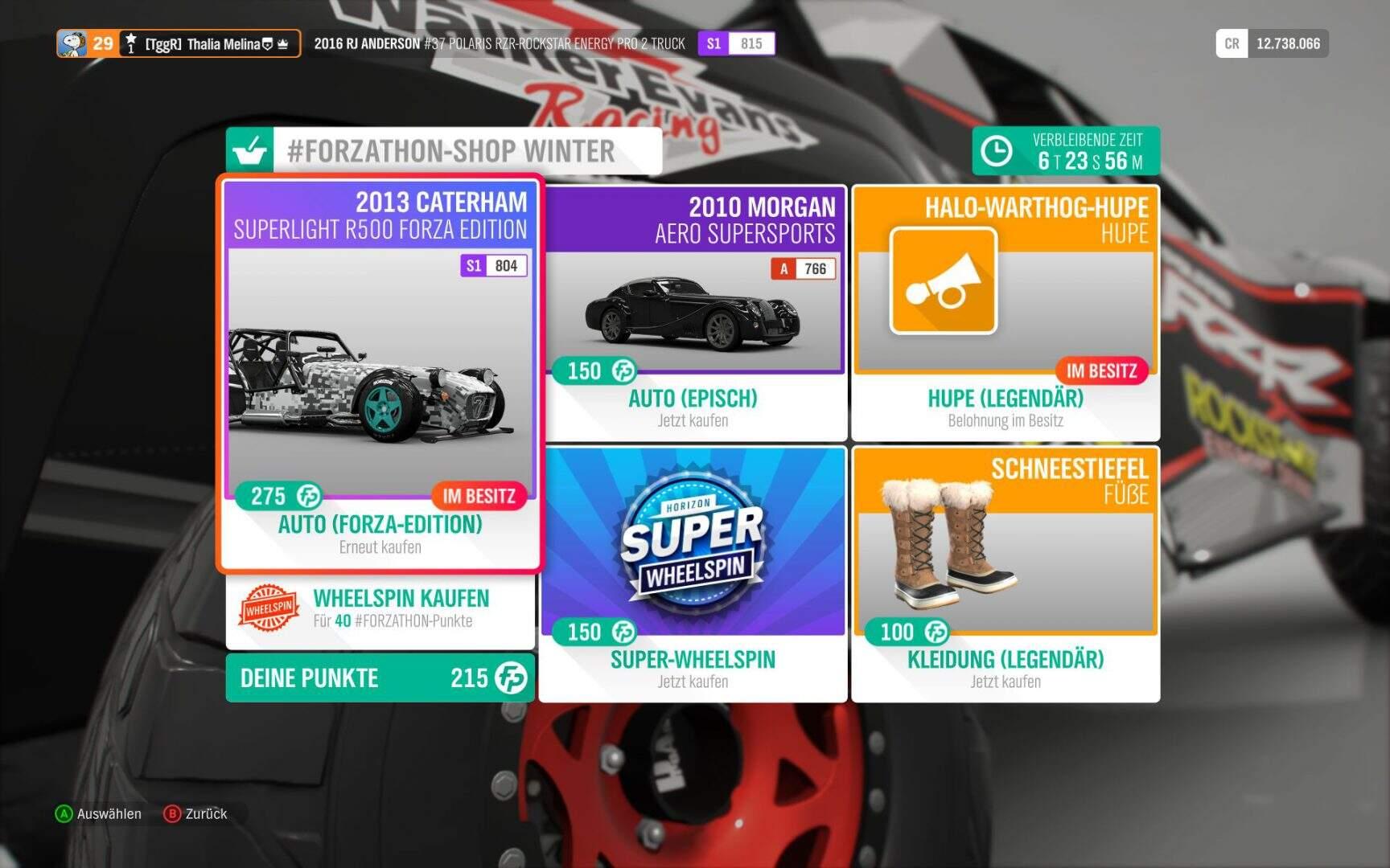 Forza Horizon 4 Forzathon-Shop KW 01 2019
