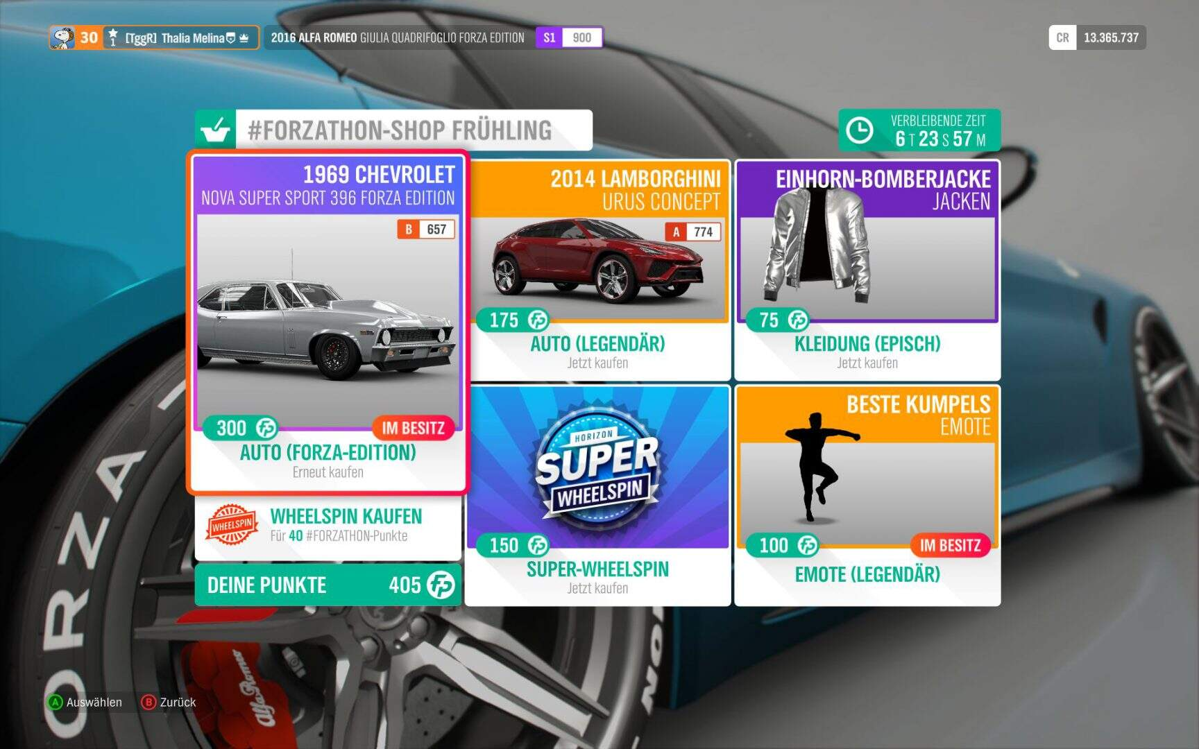 Forza Horizon 4 Forzathon Shop KW 02 / 2019