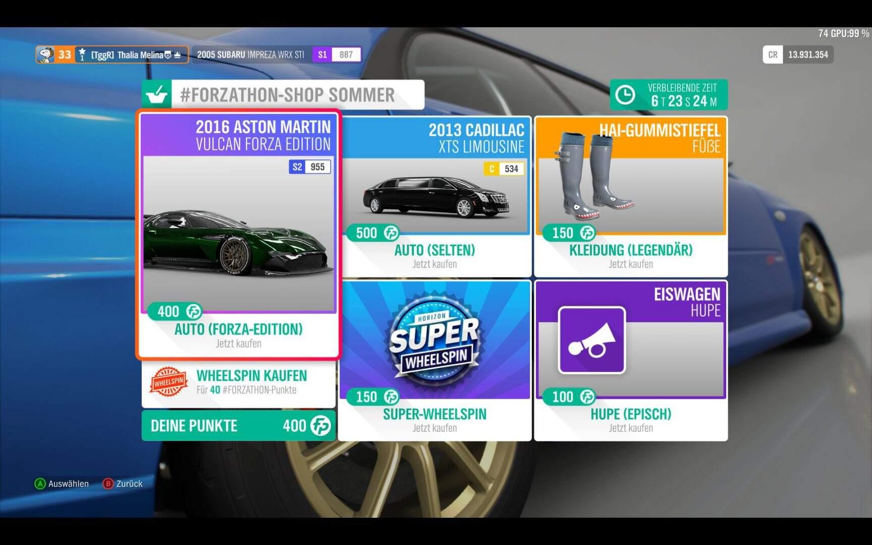 Forza Horizon 4 Forzathon Shop KW 03 / 2019