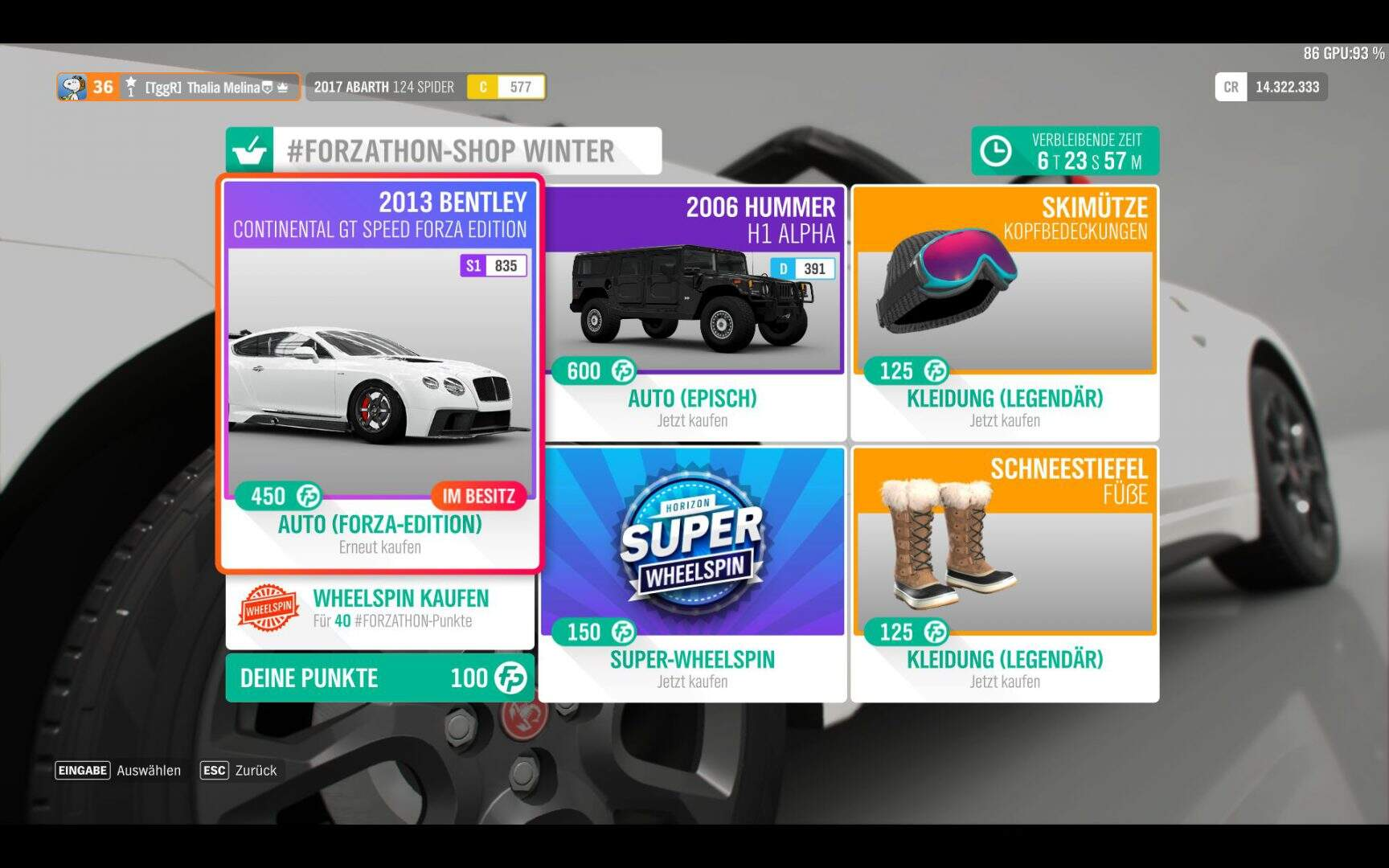 Forza Horizon 4 Forzathon Shop KW 05 / 2019
