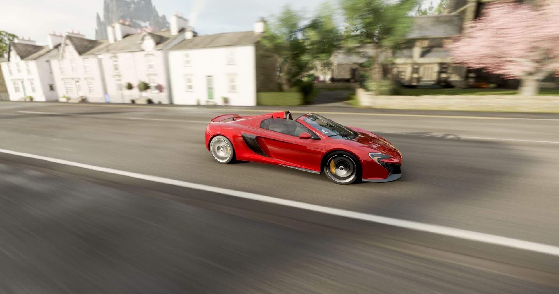 Forza Horizon 4 McLaren Spyder mit offenem Verdeck