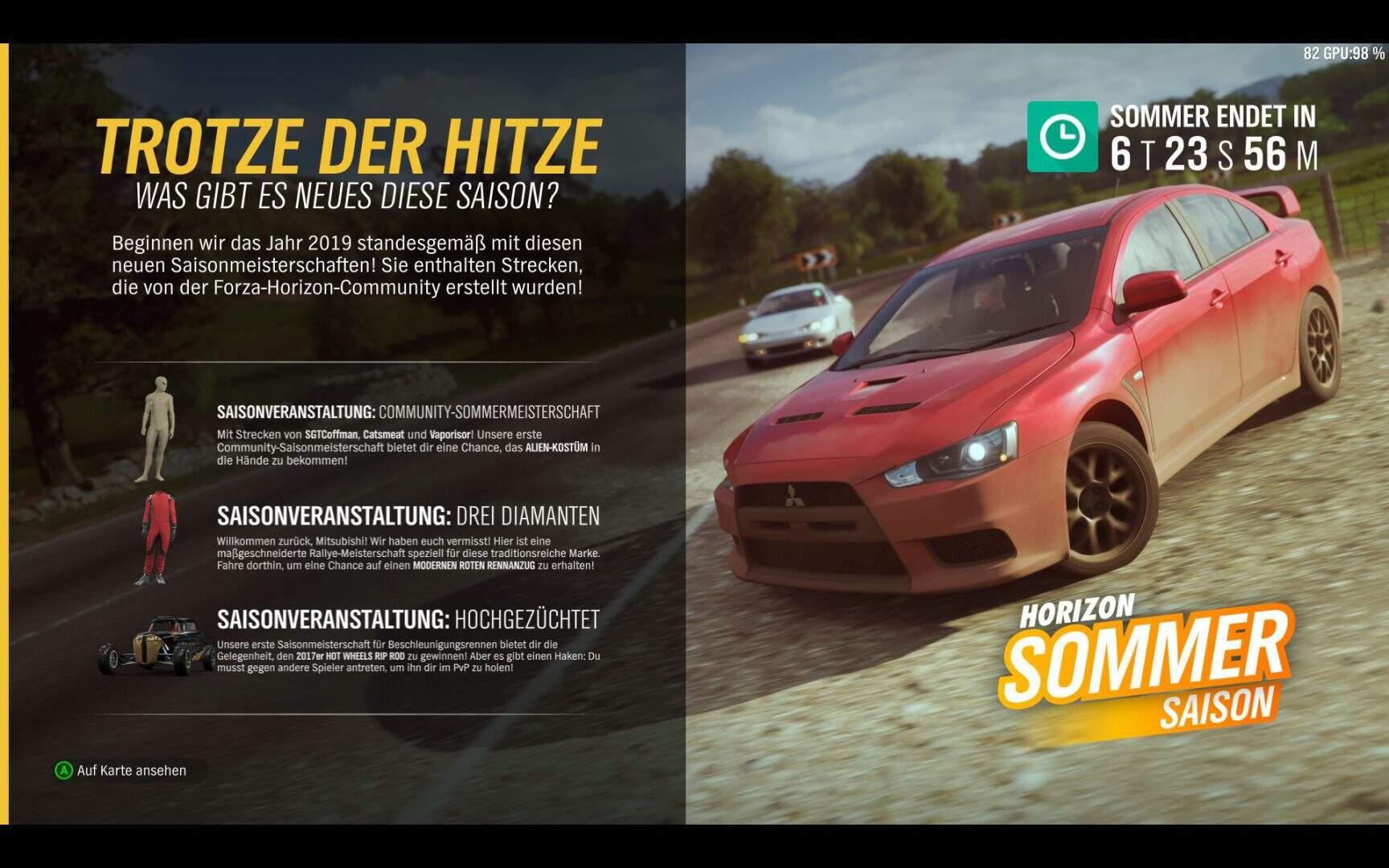 Forza Horizon 4 Aktivitäten Sommer KW 03 / 2019