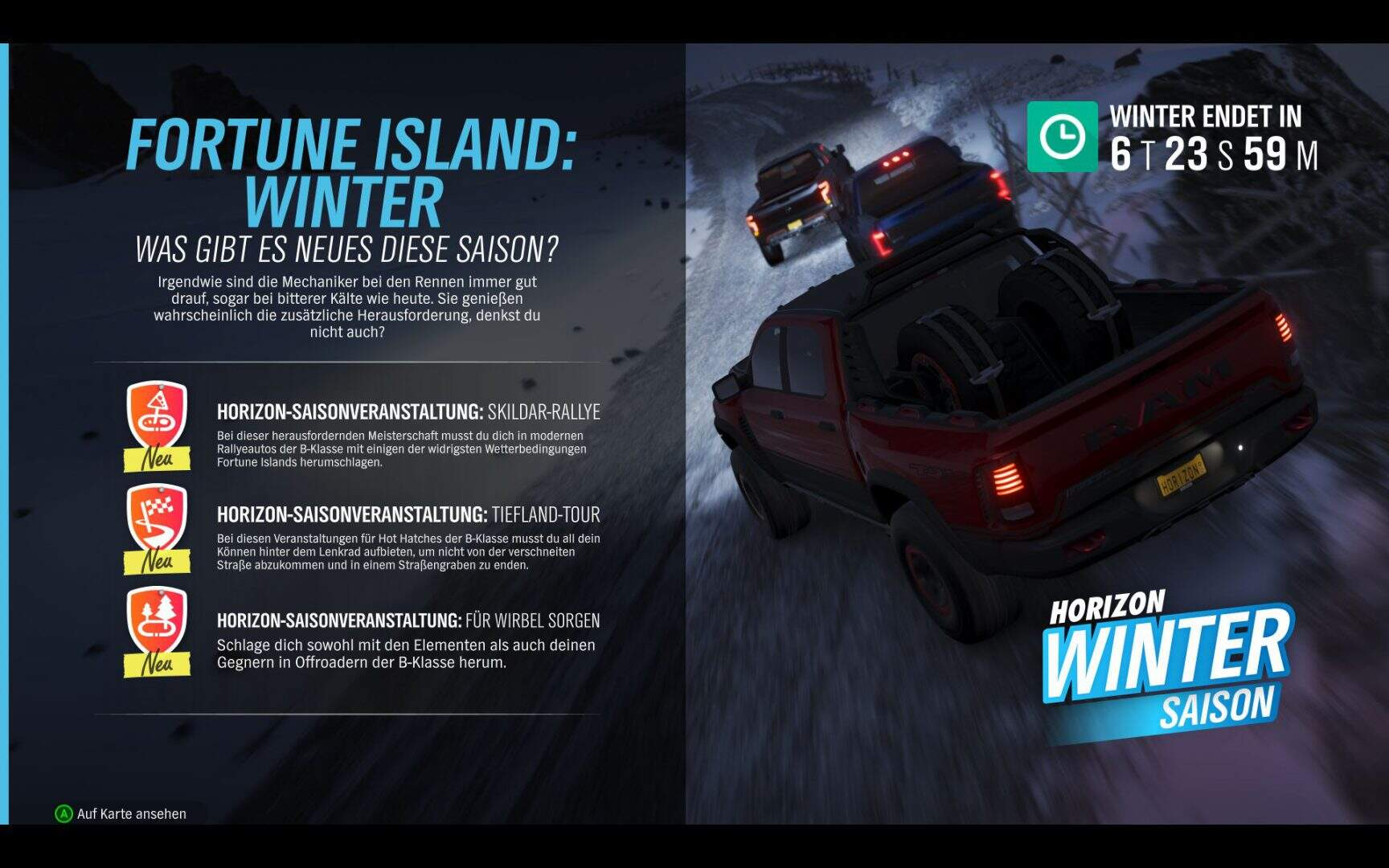 Forza Horizon 4 Wintert Aktivitäten KW 01 2019