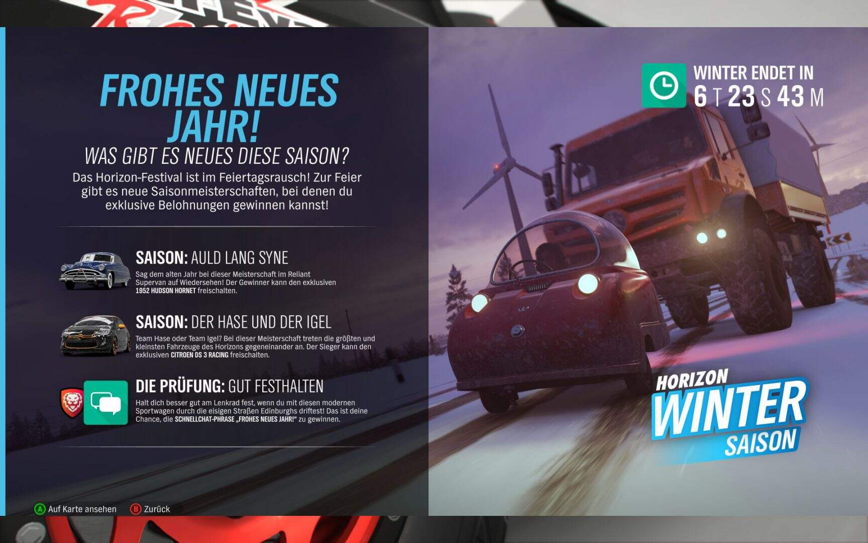 Forza Horizon 4 Winter KW 01 2019