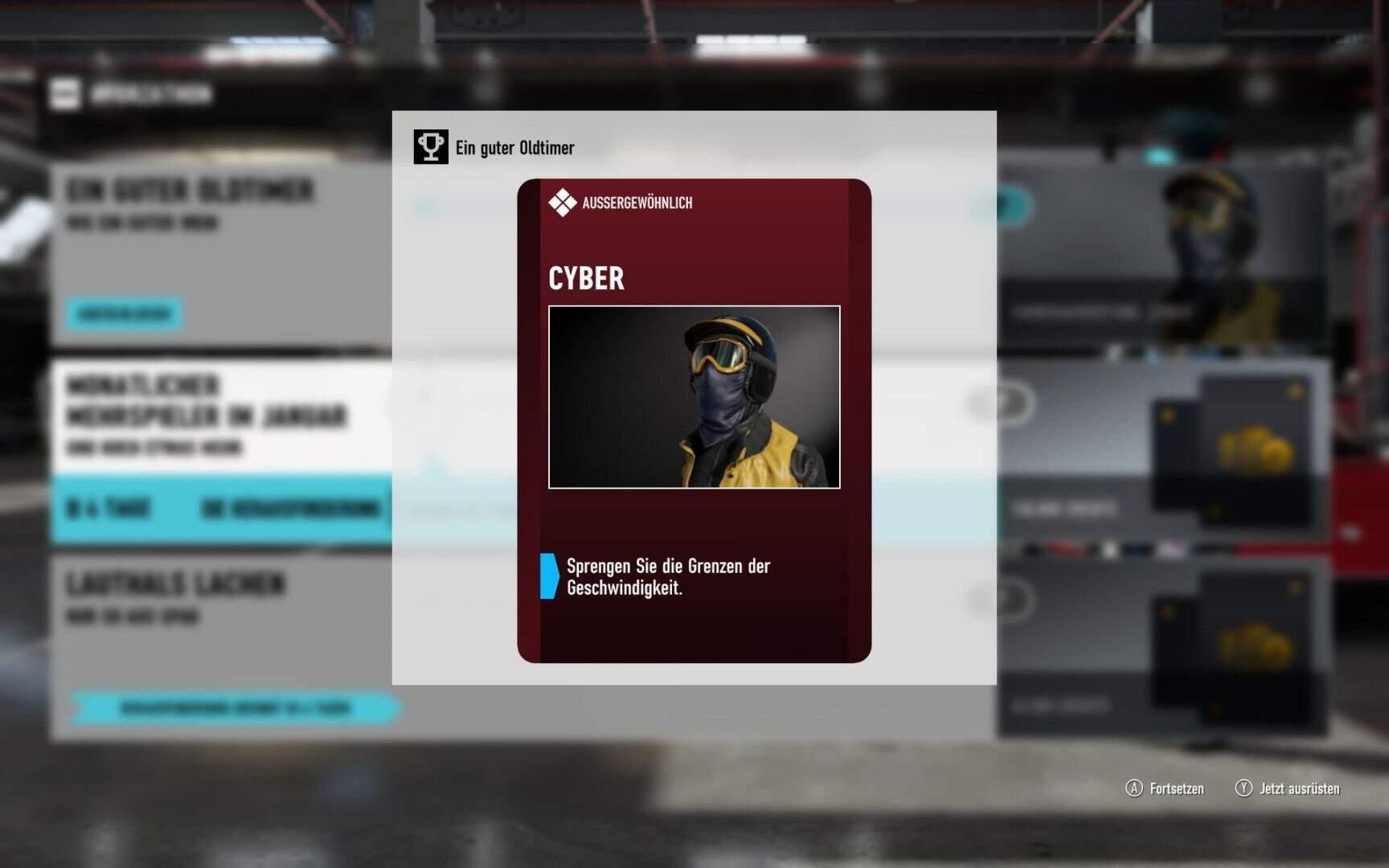 Forza Motorsport 7 Fahrerausrüstung Cyber