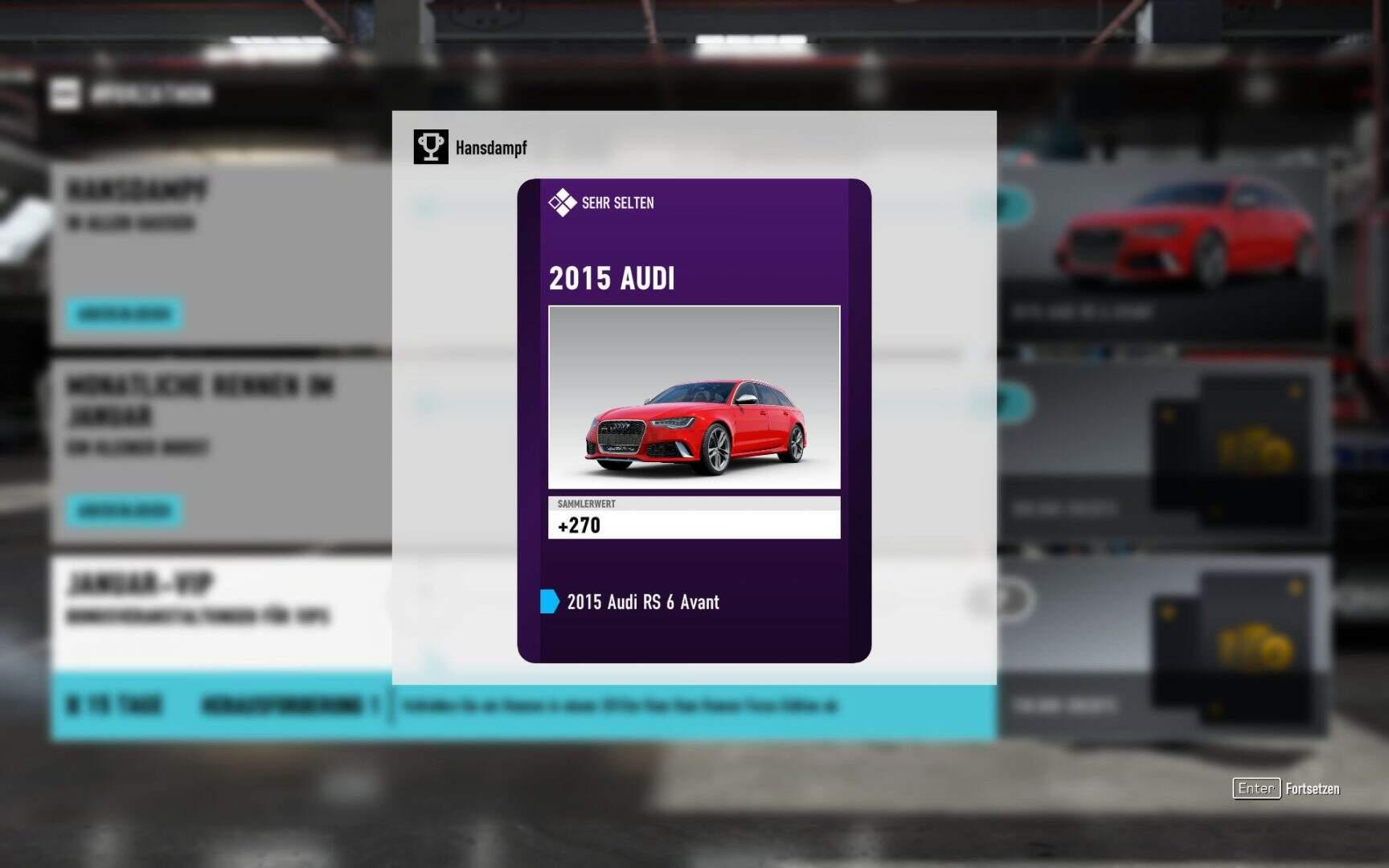 Forza Motorsport 7 Forzathon Hansdampf Belohnung