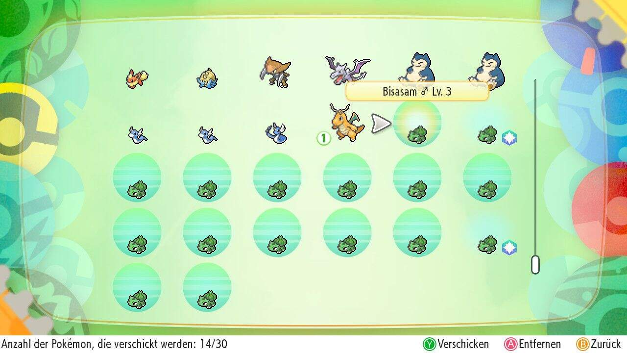 Pokémon Let´s GO Pokémon verschicken