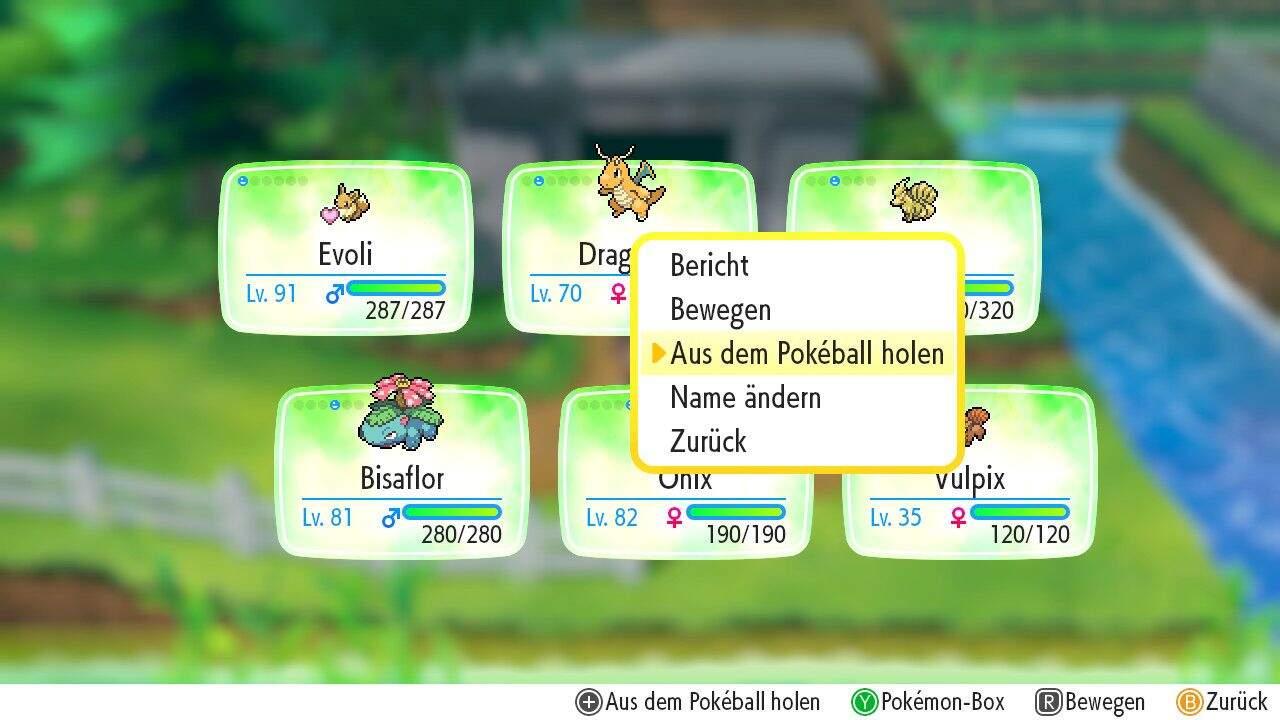 Pokémon Let´s GO Pokémon aus dem Pokéball holen