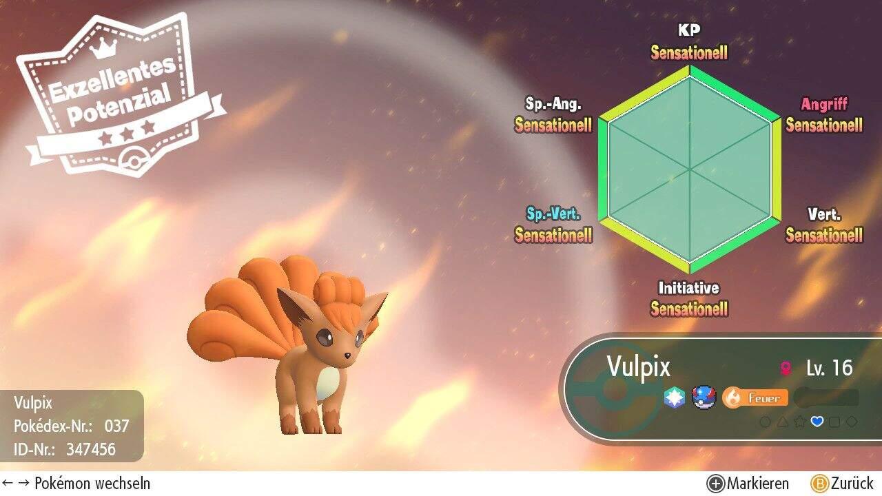 Pokémon Let´s GO Perfekte IV