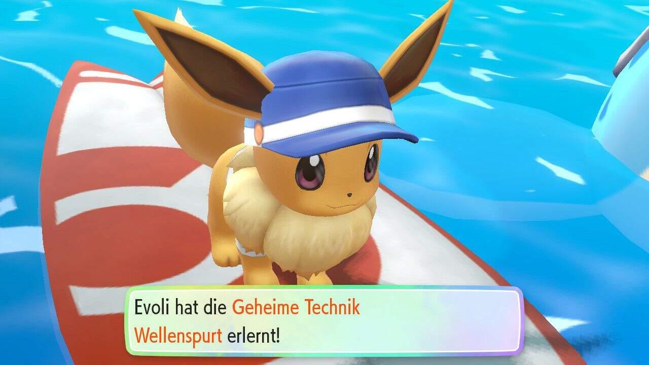 Pokémon Let's GO Wellenspurt Geheime Technik