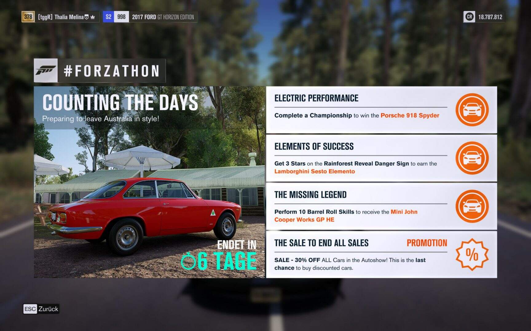 Forza Horizon 3 #Forzathon Guide KW 05 – Counting the Days