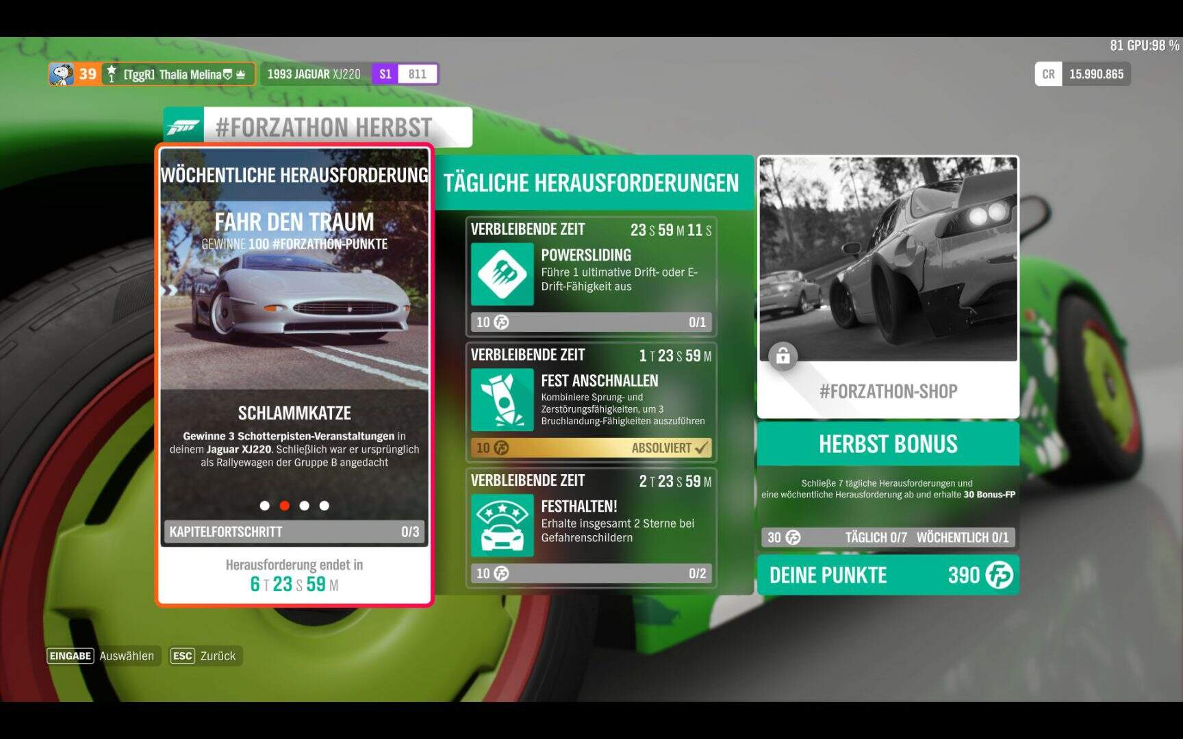 Forza Horizon 4 #Forzhathon KW 08 / 2019 Aufgabe 2