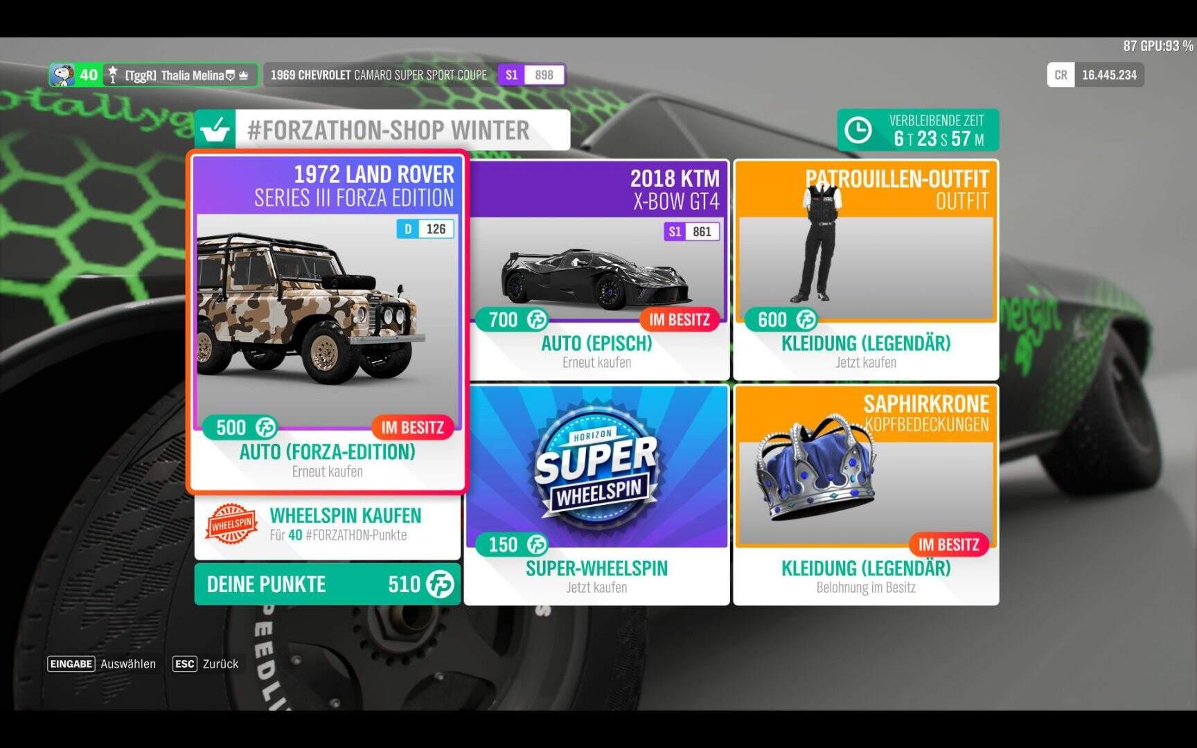 Forza Horizon 4 #Forzathon Shop KW 09 / 2019