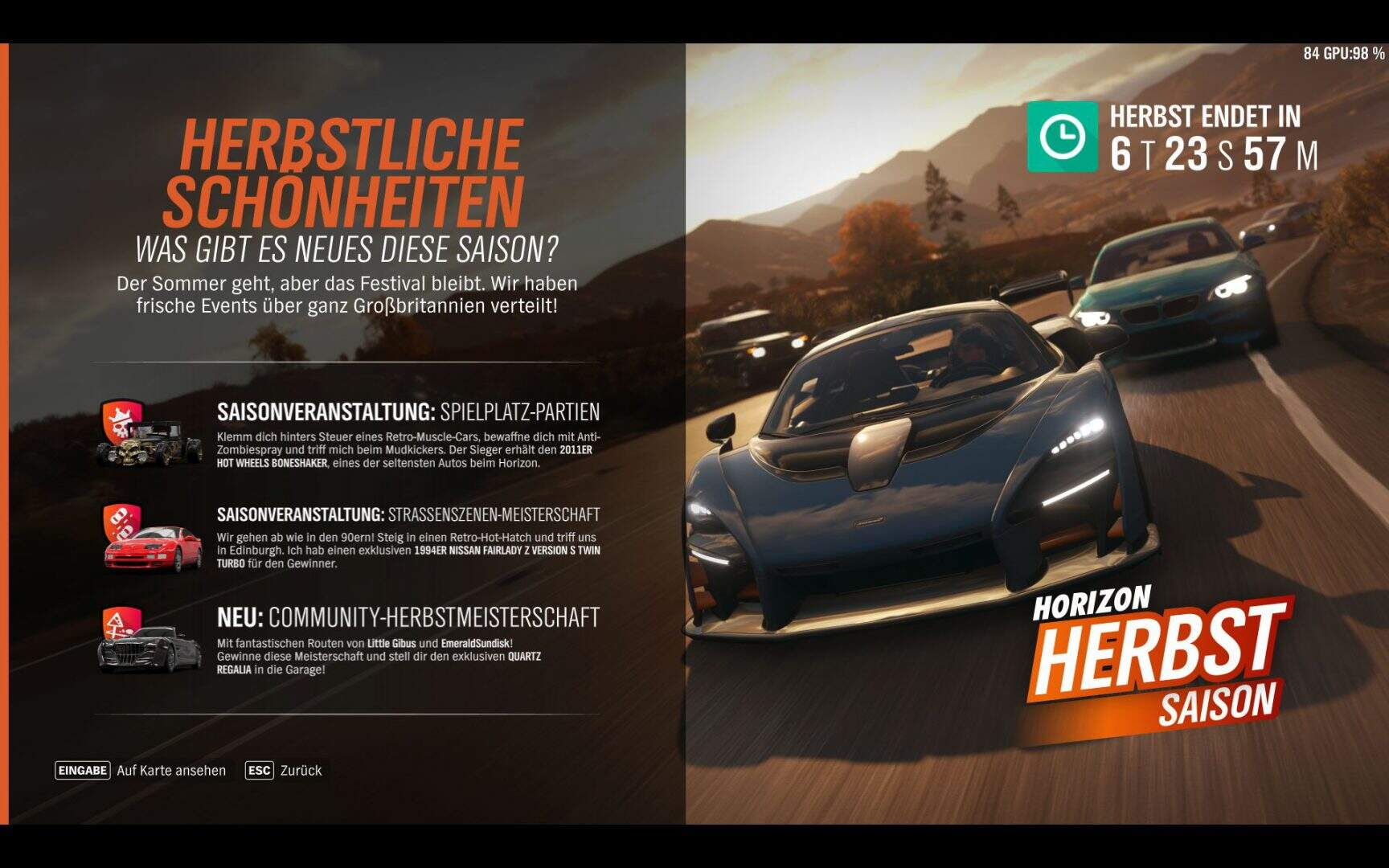 Forza Horizon 4 Aktivitäten KW 08 / 2019 Hauptspiel
