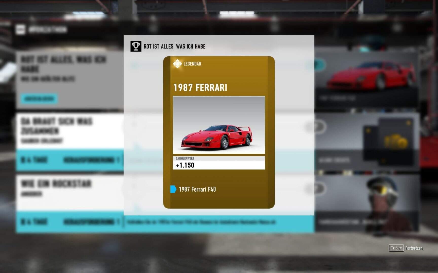 Forza Motorsport 7 1987 Ferrari F40