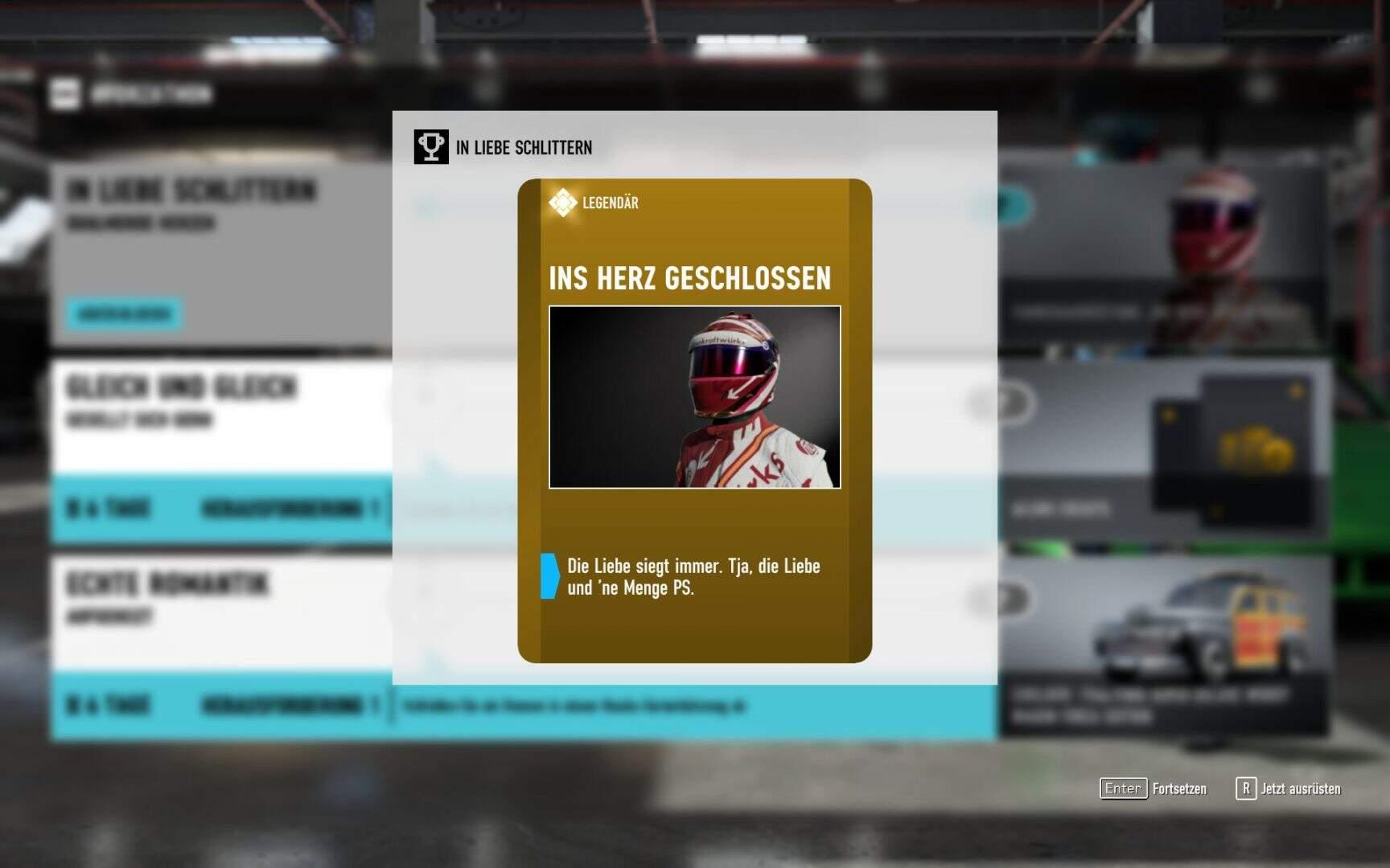 "Forza Motorsport 7 Fahrerausürstung ""Ins Herz geschlossen"""