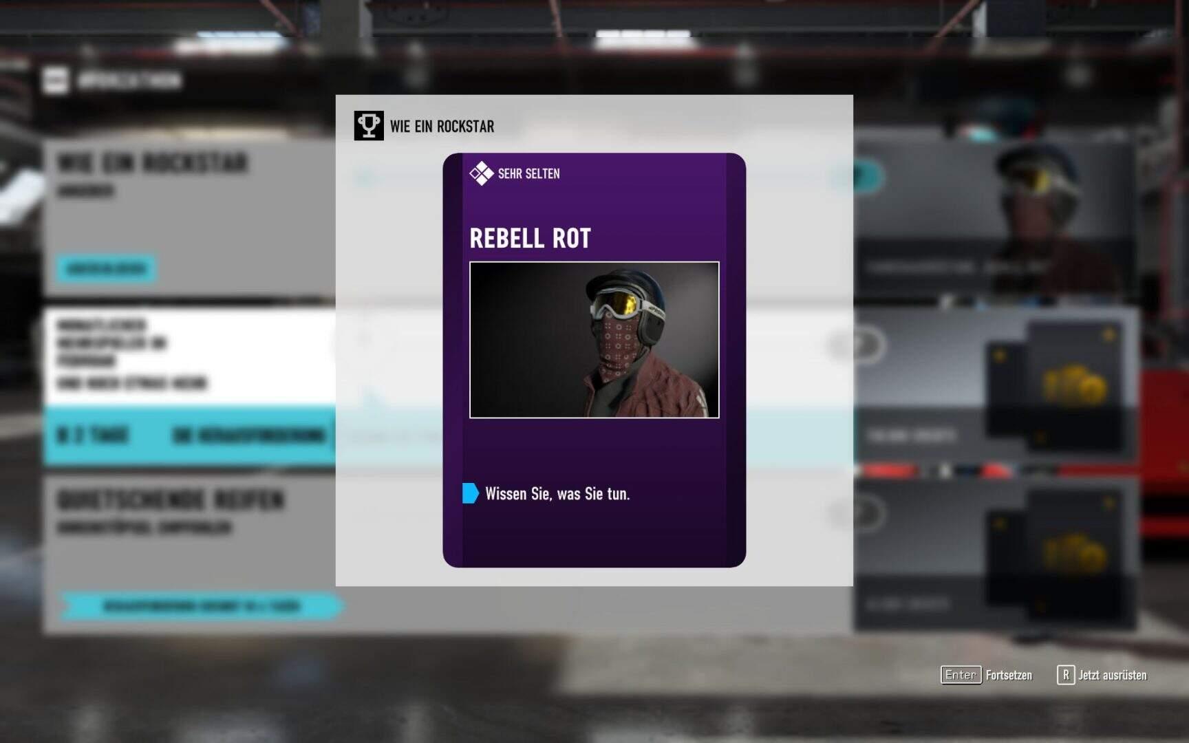 Forza Motorsport 7 Fahrerausrüstung Rebell Rot