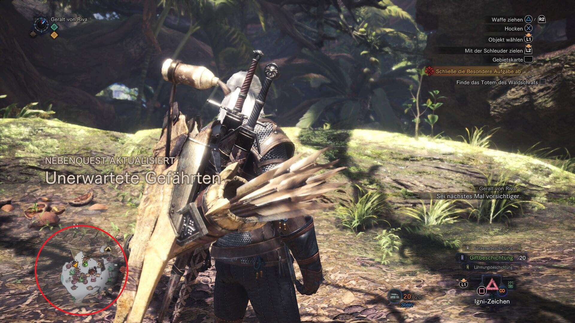 Monster Hunter World Unerwartete Gefährten Nebenquest Location