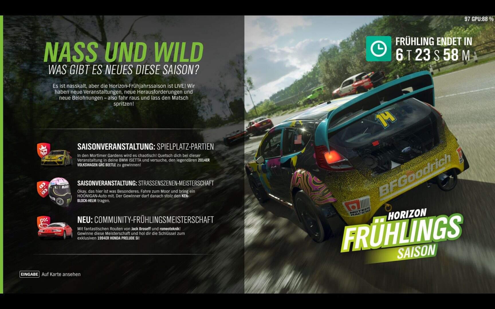 Forza Horizon 4 Aktivitäten KW 10 / 2019