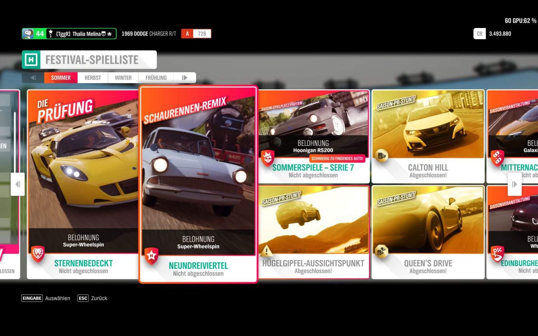 Forza Horizon 4 Festival-Spielliste