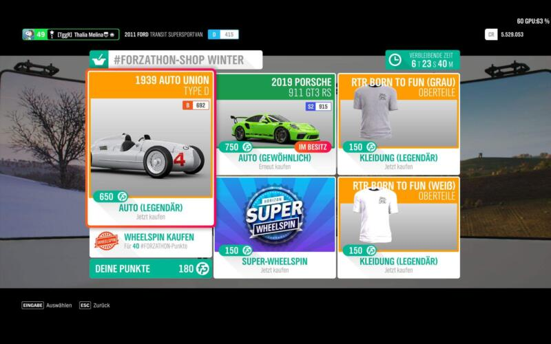 Forza Horizon 4 Forzathon Shop KW 13 / 2019