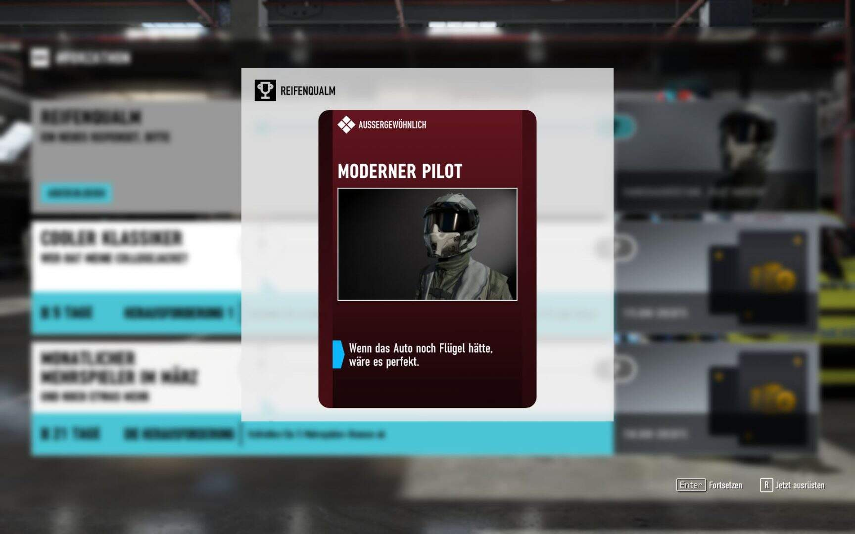 Forza Motorsport 7 Fahrerausrüstung Moderner Pilot