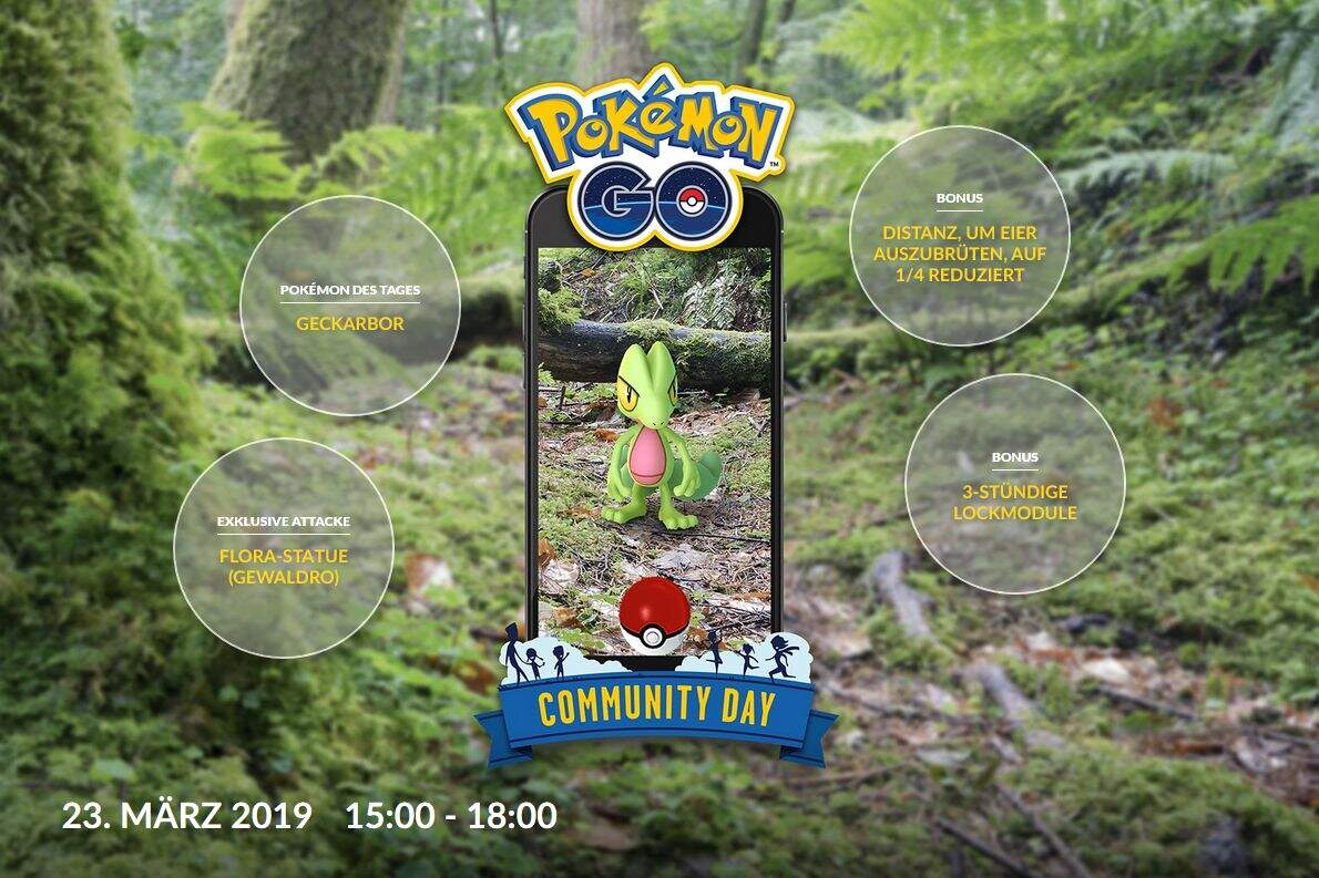 Pokémon GO März Community Day Boni