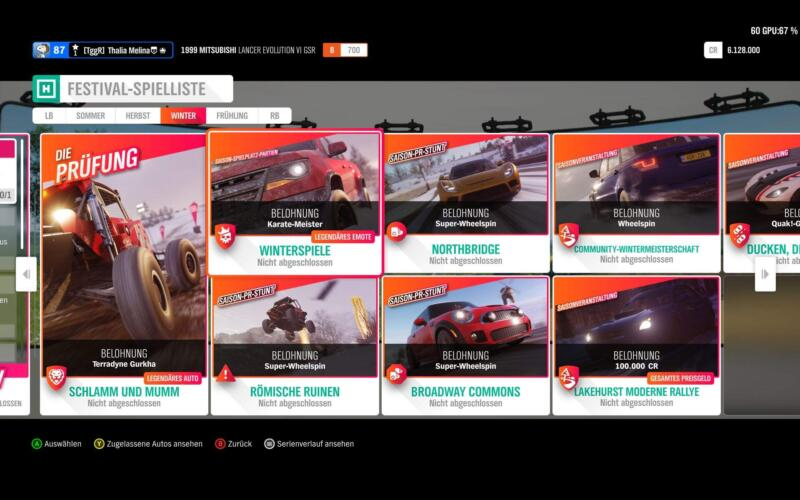 Forza Horizon 4 Festival Spielliste KW 17 2019