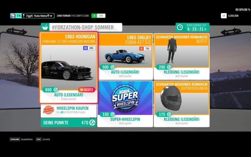 Forza Horizon 4 #Forzathon-Shop KW 15 / 2019