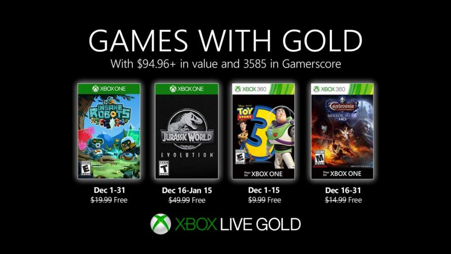 Games with Gold Dezember 2019