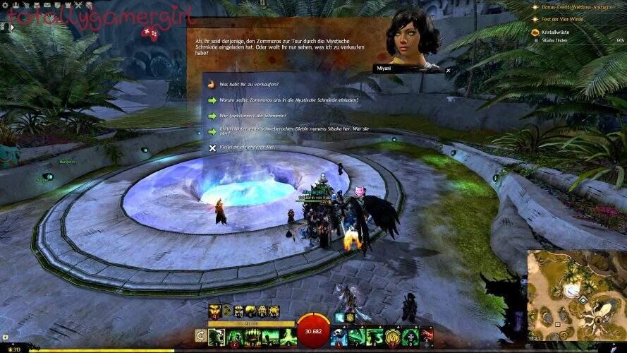 Guild Wars 2 Über die Tiefen Hinweg Beherrschung - Suche nach Sibaha - Miyani