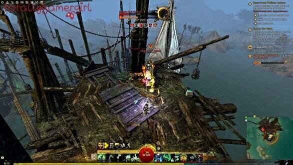 Guild Wars 2 Über die Tiefen Hinweg Beherrschung - Suche nach Sibaha - Sibaha Event