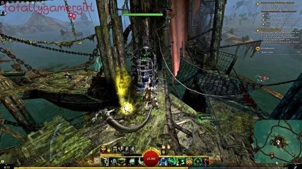 Guild Wars 2 Über die Tiefen Hinweg Beherrschung - Suche nach Sibaha - Sibaha Fundort